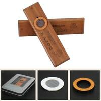 Wooden Kazoo Instruments Ukulele Guitar Partner Wood Harmonica With Metal Box