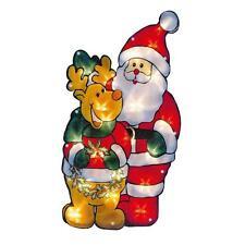 Premier Light Up BATTERY Christmas Window Silhouette - Santa & Reindeer