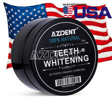 USA New100% ORGANIC COCONUT ACTIVATED CHARCOAL Carbonated TEETH WHITENING POWDER