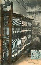 CPA animée 1907 LYON Industrie de la Soie  La Moulinage