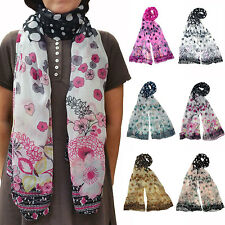 6 Pieces Plum Flower Polyester Woven Scarf with Polka Dot FashionSolid Scarves
