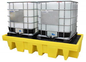 Used Double IBC Bund Spill Pallet
