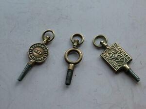 Antique Pocket Watch Keys, Samuel Manchester. Kuss & Sons Newcastle.