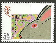 Macau - Chinesisches Neujahr: Jahr des Hasen postfrisch 1999 Mi. 1002