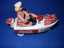 Miniature: Coca-Cola boat on wheels, die-cast, 1:24 scale