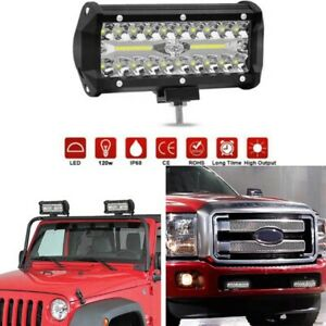 120W LED Barra De Luz Faro De Trabajo Foco Offroad 12V 24V Proyector 4WD SUV