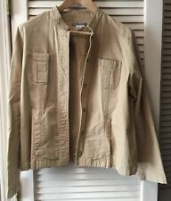 Isabella Bird Size L Brown Cotton Blend Button Up Jacket