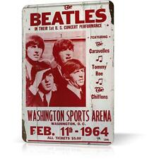 METAL TIN SIGN BEATLES CONCERT POSTER Classic Rock Vintage Decor Home Bar Wall