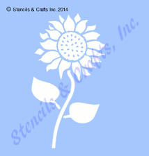 "8"" SUNFLOWER STENCIL FLOWERS LEAVES STENCILS PAINT LEAF CRAFT TEMPLATE ART NEW"