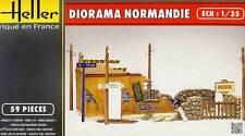 Heller Diorama Normandie Gelände Ruine Zaun Masten Wegweiser 1:35 Modell-Bausatz