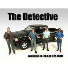 Complete Set of all 4 DETECTIVES - 1/18 scale figure/figurine - AMERICAN DIORAMA