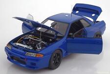 NISSAN SKYLINE GT-R R32 BAYSIDE BLUE PLAIN BODY 1992 AUTOART 89281 1/18 1:18
