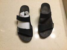 NAOT Size 37 Black Velvet Jacey Sandals