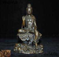 China Buddhism temple Bronze Freedom Kwan-Yin GuanYin Bodhisattva Buddha statue