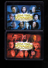 Star Trek Voyager Heroes and Villains CT1 & CT2 case Topper cards