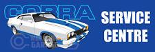 Metal Sign  - 300MM X 100MM SERVICE CENTRE FORD COBRA BLUE CAR 108