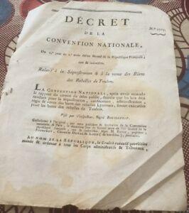 SÉQUESTRATION ET VENTE DES BIENS DES REBELLES DE TOULON. 1793.