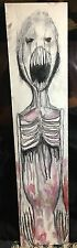 GUS FINK art ORIGINAL outsider lowbrow folk surreal abstract DARK BEING SCREAM