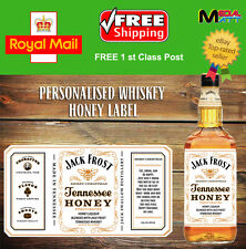 PERSONALISED TENNESSEE  WHISKEY HONEY BOTTLE LABEL STICKERS BIRTHDAY GIFT 70CL