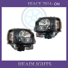 Clear Lens LED Headlight Moving Turning Lamp Pair For TOYOTA HIACE 200 2014-ON