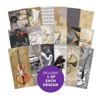 Hunkydory Musical Moments DL Matt-tastic Paper Pad -Sample Pack 18 Papers 140gsm
