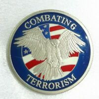 RARE! 756th Airlift Squadron Combating Terrorism Challenge Coin Enamel Accents!