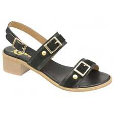 Ladies Ravel Sherma Black Leather Slingback Summer Dress Cheap Sandals UK 7