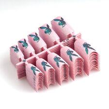 100PCS Sparkle False Plastic Glitter French Nail Tips for Art Design L73