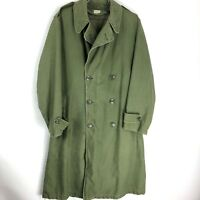 Vintage Army Olive Trench Coat Size Small Mens S Jacket Military