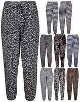 Womens Leopard Flower Print Ladies Stretch Alibaba Harem Pants Trouser Plus Size