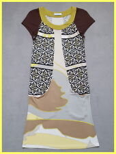 EUC EMILIO PUCCI GREEN BROWN GRAY BLACK PRINT STRETCH JERSEY TUNIC DRESS 40 6 4