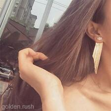 New Fashion Gold Chain Tassel Dangle Earrings Women Jewelry Drop Crystal Studs