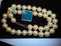 "HOBE Vintage Big 10mm Cream Majorca Pearl 18"" Necklace CHOKER Mint w/ Label"