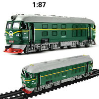 1:87 Locomotive Internal combustion Train model alloy Diecast pull back car toy