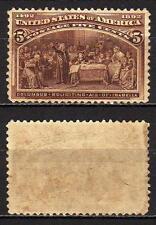 #429 - Stati Uniti - 5 cents Esposizione colombiana, 1893 - Linguellato (* MH)