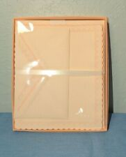 Vintage HALLMARK Stationery Set LACE with Envelopes Boxed NEW IN PLASTIC