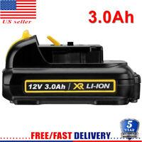 DCB120 FOR DEWALT DCB127 12V 12 VOLT Max Li-ion 3.0AH Battery Pack DCB123 DCB121