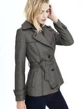NWT $228 Banana Republic Tipo Houndstooth Short Trench Coat Jacket Belted sz 8