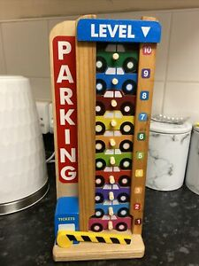 Melissa and Doug wooden stacking car park