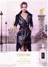 Publicité advertising 2012 Parfum eau de Toilette Parisienne Yves Saint laurent