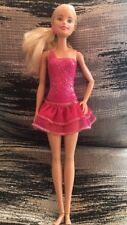 Barbie Doll Ice skating Pink Side Pony Tail Jointed Ankles