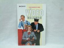 Sony GV-8 Video8 Hi8 8mm Video Walkman - Original Selling Brochure Features