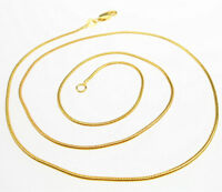 "Wholesale Sale 5PCS 16""-30"" Jewelry 18K GOLD FILLED snake Link Chain Necklace"