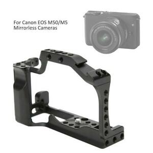 Camera Cage Rig w/Grip Handle Cold Shoe Expansion For Canon EOS M50/M5 Camera DR
