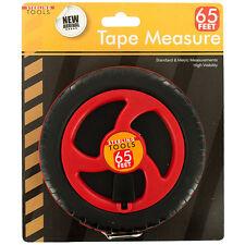 65-Foot Tape Measure Standard & Metric Measurements High Visibilty Sterling Tool