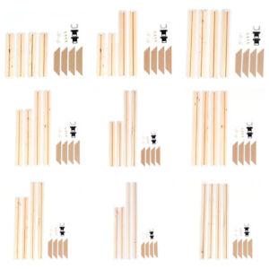 Prosperveil Holzrahmen Leinwand Keilrahmen für DIY Leinwand Ölgemälde Diama Heiß