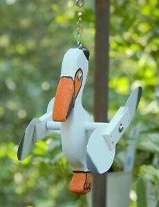 Pelican Mini Whirligigs Whirligig Windmill Yard Art Hand made from wood