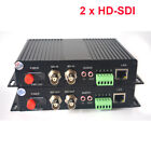 2 Channels HD SDI over Fiber Optic Media Converters with RS485 Ethernet Audio