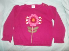 Girls Gymboree Peruvian Doll sweater size 3T--GUC--purple, rolled hems, pink flo