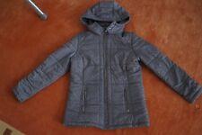 Winterjacke für Mädchen Gr.158 Grau mit Kapuze